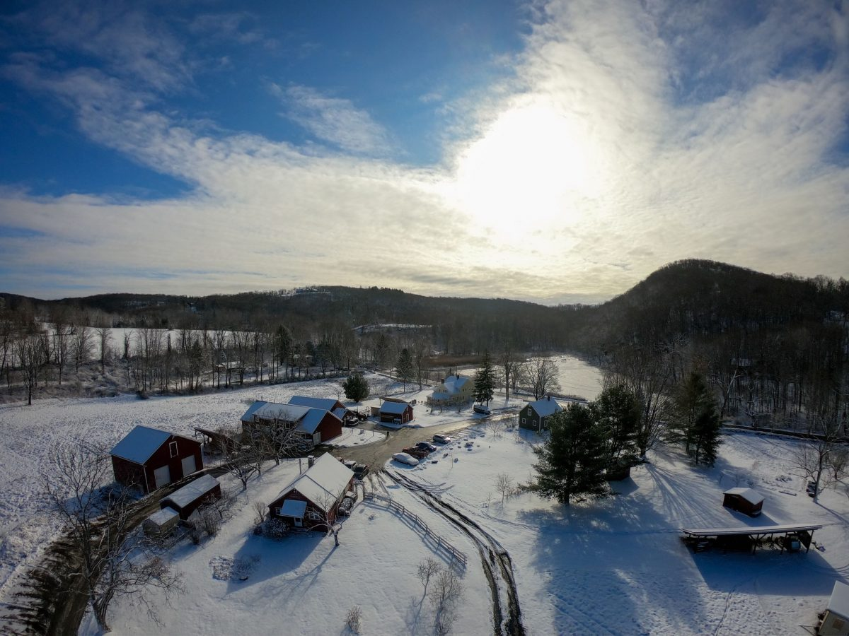aerial winter view