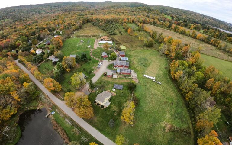fall aerial view