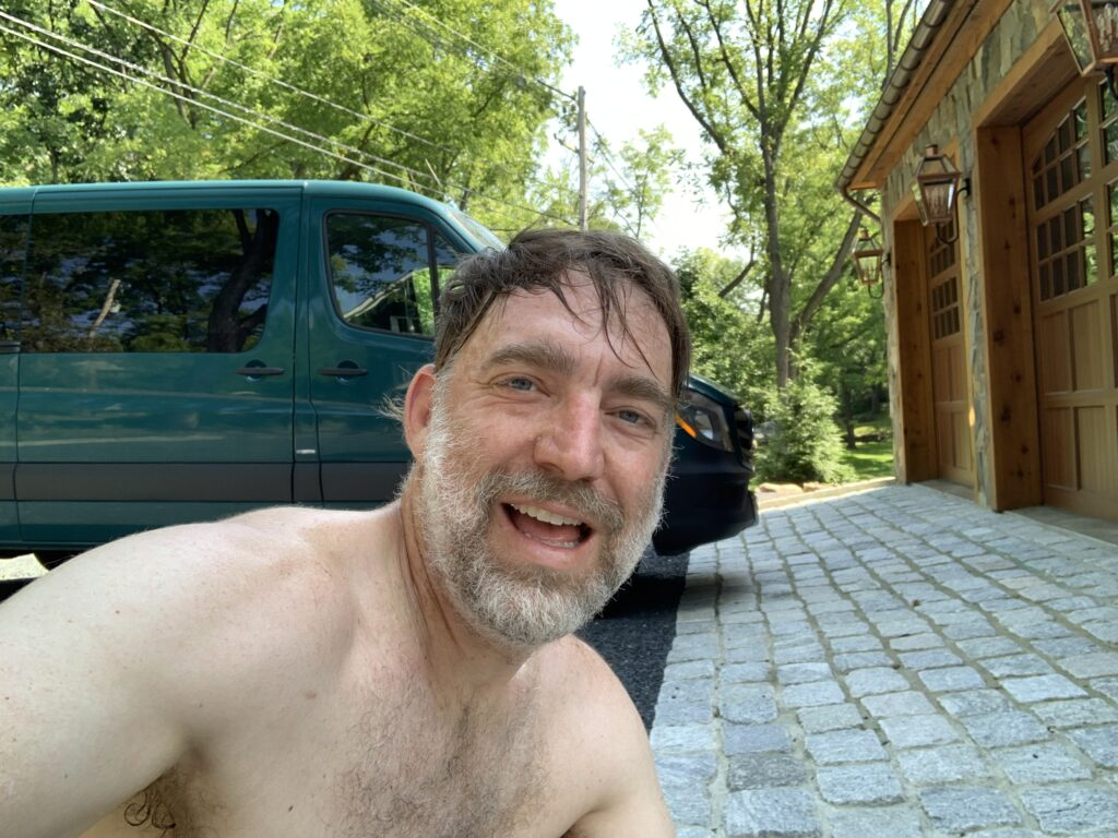 Me, after a particularly hot and humid run up in Warwick, New York.