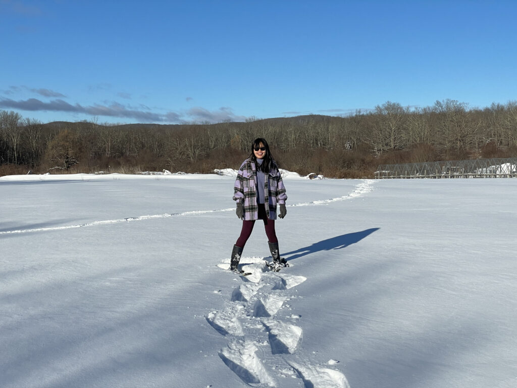 First time on snowshoes!